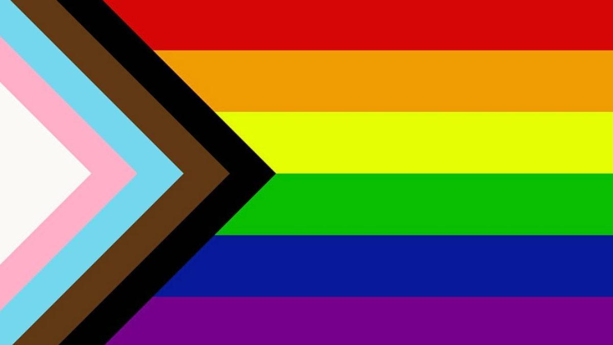 The rainbow flag has rainbow stripes which symbolize general 2SLGBTQ+ pride