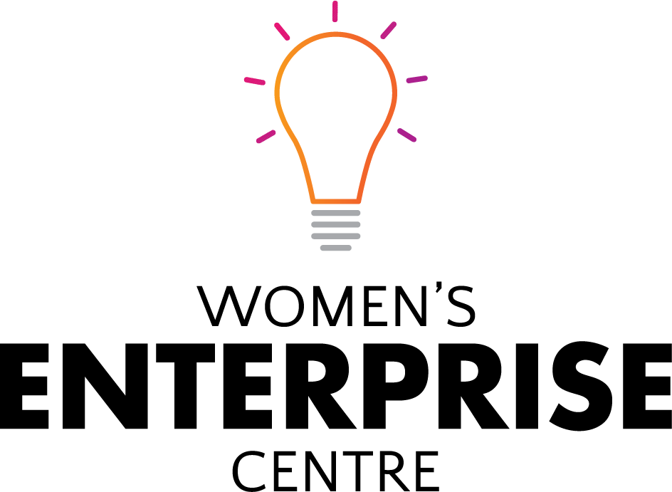 The Women's Enterprise Centre logo with a light bulb icon above it