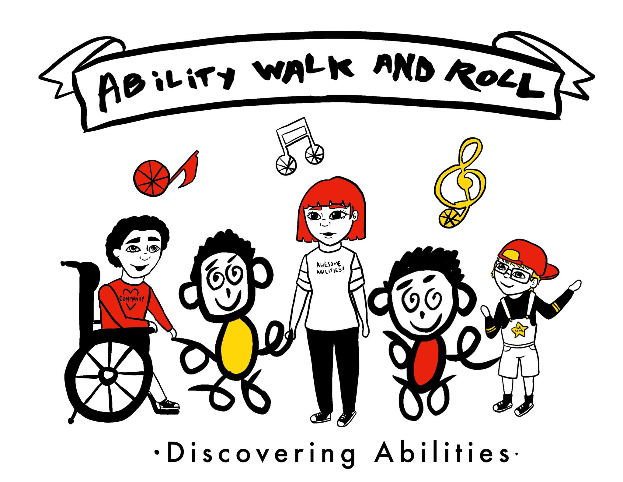 Ability walk and roll poster