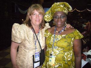 Denise at the 2007 YWCA World Council Meeting in Nairobi, Kenya